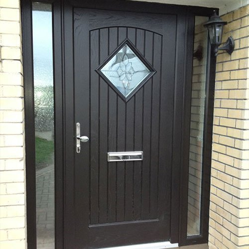 palladio style edinburgh with sidelights in black