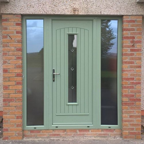 palladio style seville with sidelights in green