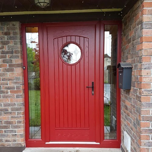 palladio style viking with sidelights in red